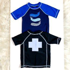Bundle boys Summer Swim shirts tops 2T 24 months